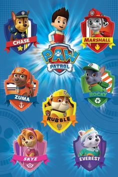 Paw Patrol Crests - Official Poster