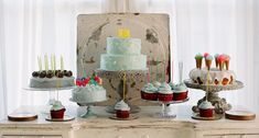 Just gorgeous. A dessert table created by Elizabeth Messina for her daughter's 13th birthday, featured on Amy Atlas' blog.