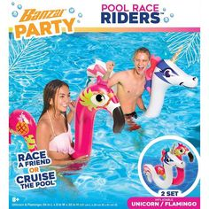Just fill with air and you will be the hit of the pool party. Race across the pool and see who wins Also great learn how to swim to float and for various water play and aquatic exercise. Crocodile Dentist, Mexican Train Dominoes, Family Card Games, Kids Outdoor Play, Race Party, Pool Toys, Water Play, Flamingo, Racing