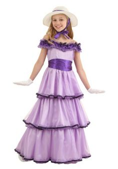 She can make her debut to high society in style with this exclusive deluxe Southern Belle costume.