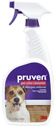 Pruven P-OAR-32 Pet Odor Remover and Allergen Reducer with Trigger Spray, 32 Fluid Ounce >>> Click image to review more details. (This is an affiliate link and I receive a commission for the sales) #DogCare