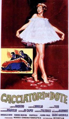 """Mario Amendola's comedy """"Cacciatori di dote"""" (Italian title: """"Dowry hunters""""; 1961), starring Lauretta Masiero."""