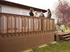 Deck Railing Weave