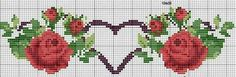 Cute Cross Stitch, Cross Stitch Heart, Cross Stitch Borders, Cross Stitch Flowers, Counted Cross Stitch Patterns, Cross Stitching, Cross Stitch Embroidery, Swedish Weaving, Coloring Pages For Girls