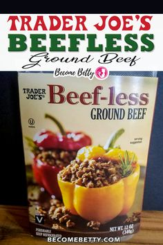 """Trader Joe's Beefless Ground Beef has a texture that is pretty close to ground beef. This is a blank canvas that will take well to your cooking abilities. This product does need your love an attention. This probably will not make a good """"hambuger."""" It needs something to be added to make this product better.  Become Betty @becomebetty #traderjoes #traderjoesrefrigerated #traderjoesvegan #traderjoesmexican #traderjoesdiditagain #traderjoesfan #traderjoesfinds #traderjoesreview #becomebetty Vegetarian Shopping List, Trader Joes Vegetarian, Vegetarian Recipes Easy, Shopping Lists, Ground Beef Recipes Mexican, Mexican Recipes, Best Trader Joes Products, Joe Beef, Ground Beef Tacos"""