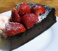 Flourless Chocolate Cake...*****5Star Rating..Five ingredients. Four steps. One ultimate chocolate dessert. Could it get any better? Top it with rich hot fudge and vanilla ice cream and find out for yourself!