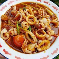Resep masakan harian Ramadhan instagram Indonesian Food, Pasta Salad, Shrimp, Spaghetti, Food And Drink, Menu, Cooking, Ethnic Recipes, Foods