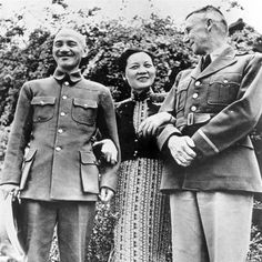 Chiang Kai-Shek, Song May-ling, and Joseph Stilwell Madame Chiang Kai Shek, Us Airways, San Francisco Earthquake, Pearl Harbor Attack, Military Pictures, United States Army, China, A4 Poster, Venezuela