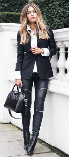 cool office style outfit idea