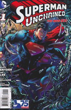 SUPERMAN UNCHAINED #1 Regular Jim Lee Cover Story by Scott Snyder / When thirteen satellites fall from the sky in one day, the logical suspect is Lex Luthor-even though he's still locked up in prison! There's a mystery hidden where even Superman can't see it-Can The Man of Steel drag a decades-old secret into the light? http://www.rarecomicbooks.fashionablewebs.com/Superman%20Comics.html#supermanunchained #superman  #manofsteel  #jimlee  #scottsnyder