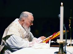 "St Pio ""How to attend Holy Mass"" ""The Divine Master calls the church the house of prayer. In order to avoid irreverence and imperfections I exhort you in the Lord to: Enter the church in silence and with great respect. Take the holy water and make the sign of the cross carefully and slowly. Before God in the Blessed Sacrament genuflect devoutly. At your pace, kneel down and render to Jesus the tribute of you presence. Confide to him all your needs, and those of others. Speak to him with…"