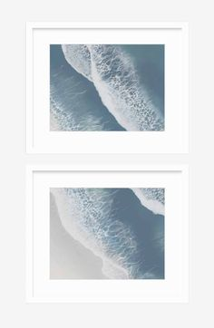 The Foam Diptych Art Pieces, Coastal Art, White Sea, Fine Art, Fine Art Paper, Art, Diptych, Original Art, Prints