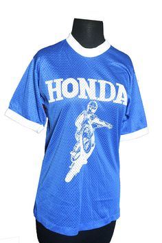 Vintage 1980s Honda Motocross Nylon Jersey  by VarietyVintagebyALD, $45.50