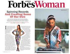Indira Kobi's Blog: DJ Cuppy Covers Africa Forbes Woman Magazine