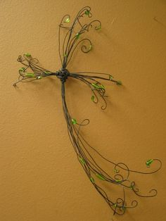 Beaded Wall Cross Wire