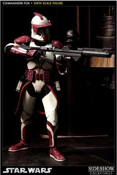 Figura Star Wars. Clone Commander Fox, 30 cms. Exclusivo SDCC. Sideshow Collectibles