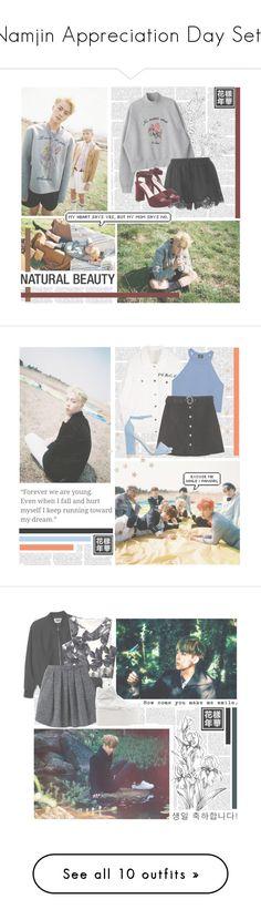 """Namjin Appreciation Day Sets"" by alicejean123 ❤ liked on Polyvore featuring Twin-Set, Miu Miu, Zara, Nly Shoes, Wood Wood, Buffalo, Monki, Chicnova Fashion, NIKE and High Heels Suicide"