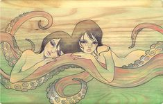 Octopus Girls Audrey KAWASAKI - (2006) octo-girls.jpg #illustration #inspiration