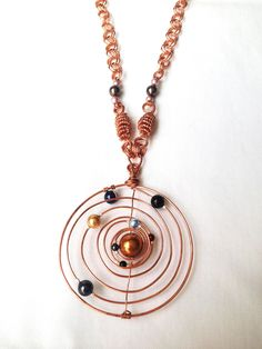 Unique Outer Space Jewelry Necklace - tweek and make