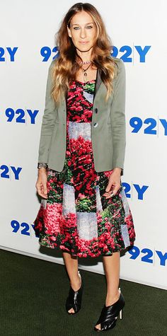 e843fdc84ea5 Sarah Jessica Parker held a discussion at the 92nd Street Y in NYC in a  Tracy