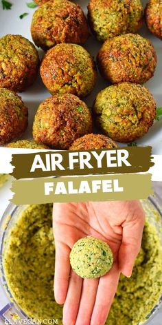 Air Fryer Dinner Recipes, Air Fryer Recipes Easy, Vegan Dinner Recipes, Vegan Dinners, Veggie Recipes, Whole Food Recipes, Vegetarian Recipes, Cooking Recipes, Healthy Recipes