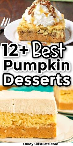 Add a little pumpkin spice to your fall and Thanksgiving with these easy and delicious pumpkin dessert ideas. From ooey gooey pumpkin cheesecake to cookies and pumpkin crisp, to pies and cookies, you'll find delicious recipes that every pumpkin fan will love. Perfect for a chilly fall day and delicious for your table at Thanksgiving. #pumpkindessert #pumpkinrecipe #easypumpkinrecipes #onmykidsplate Pinterest Dessert Recipes, Best Dessert Recipes, Cheesecake Recipes, Easy Desserts, Dessert Ideas, Delicious Recipes, Pumpkin Cheesecake Bars, Homemade Pumpkin Puree, Pumpkin Cake Recipes