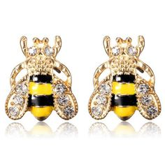 Серьги Пчелки, ~ 52 руб. за пару    http://ali.pub/16sr9s