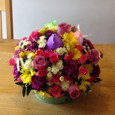 Easter table centrepiece