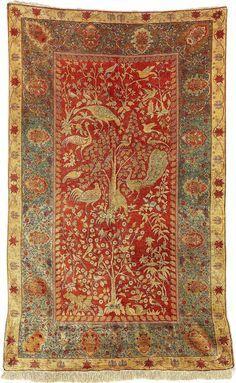 Turkish rugs: Hereke silk carpet c. Persian Carpet, Persian Rug, Turkish Rugs, Textiles, Fabric Rug, Floor Rugs, Kilim Rugs, Tribal Rug, Rugs On Carpet