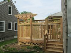 Arbor with Privacy Wall and Gate  St. Louis Park MN
