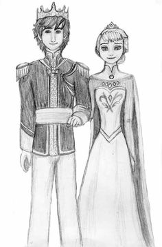 Hiccup & Elsa (Hiccelsa) King and Queen