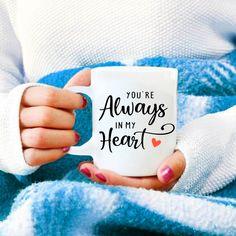 Men valentines day gift. Girlfriend love mug, Anniversary gift for her, Valentines gift for wife,You're always in my heart