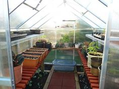 How to start seeds in a non-heated greenhouse (plus, nice photos of greenhouse interior) Heating A Greenhouse, Backyard Greenhouse, Small Greenhouse, Greenhouse Plans, Backyard Landscaping, Greenhouse Benches, Pallet Greenhouse, Hydroponic Supplies, Greenhouse Supplies