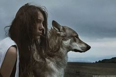 » The wolf girl « #Photographer: MOTH ART #France #Europe #Paris #FineArt  Visit » MOTH ART's « portfolio now on STRKNG: http://strkng.com/s/da  #art #portrait #MOTHART #strkng_editors_selection #strkng