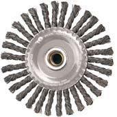Pearl Abrasive Stainless Steel Stringer Bead Twist Knot Wheel 4 x .020 x 5/8-11 CLWBK458BS