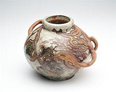 Vine Handled Vase by Émile Decoeur, 1902