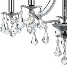 5935-CH-CL-MWP   Lighting Expo1 Mini Chandelier, Chandelier Lighting, Steel Manufacturers, Wall Lights, Ceiling Lights, Transitional Decor, Candelabra, Chrome Finish, Polished Chrome