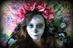 DIY Flower Crowns: Perfect for Halloween   Dia De Los Muertos ...