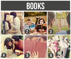 Couples Photography with books