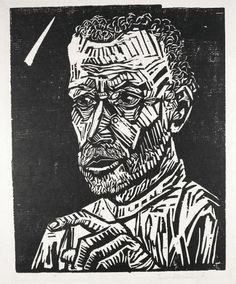 Erich Heckel (1883-1970), Young Man (Ein Junger), woodcut, 1917