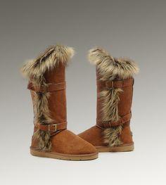 48 best women ugg fox fur boots images fur boots tall uggs moon rh pinterest com