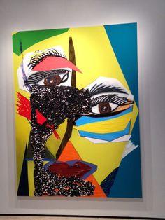 Mickalene Thomas on exhibit at Lehmann Maupin Gallery NYC