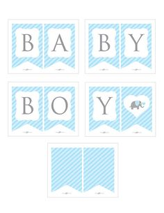 Instant Download Blue Elephant Baby Shower by Studio20Designs