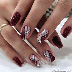 Elegant Nails, Classy Nails, Fancy Nails, Stylish Nails, Simple Nails, Red Nails, Cute Nails, Hair And Nails, Red Nail Art