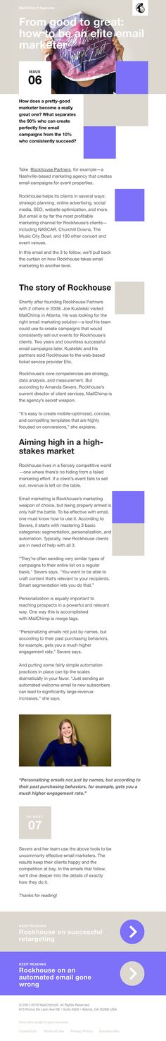 Issue From good to great: how to be an elite email marketer - Really Good Emails Email Marketing, Digital Marketing, Engagement Emails, Email Design Inspiration, Good To Great, Best Email, Newsletter Design, Email Newsletters, Email Campaign