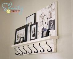 DIY Coat Hook Shelf by yvonne