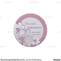 Floral Design Bridal Shower Favor Candy Jelly Belly Candy Tins
