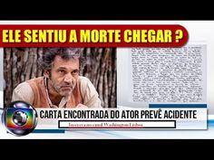 🔴 Domingos Montagner deixou uma carta dias antes de morrer ?