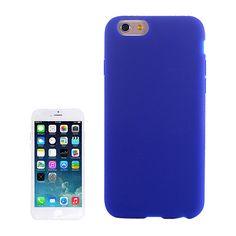 Funda silicona azul iphone 6 plus
