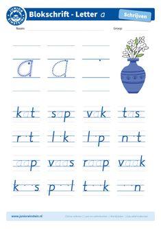 Blokletter a in woorden - Junior Einstein - Oefen het schrijven van de letter a in woorden. Je hebt de letter a nu al vaak en goed geoefend. Probeer hem nu netjes tussen andere letters te schrijven. Kijk goed naar de voorbeelden. Tip: bekijk ook de andere blokletters goed. Die kun je ook allemaal nog oefenen!